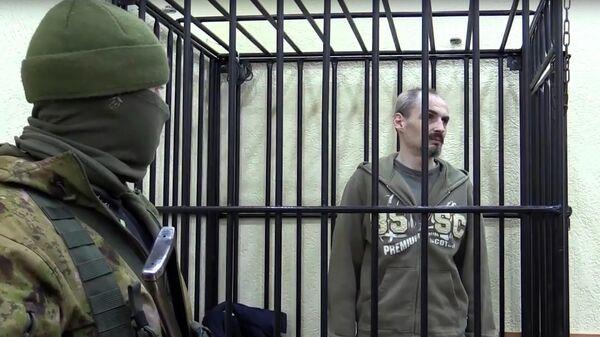 Гражданин Латвии Валентис Веселовс, задержанный сотрудниками Министерства государственной безопасности ЛНР