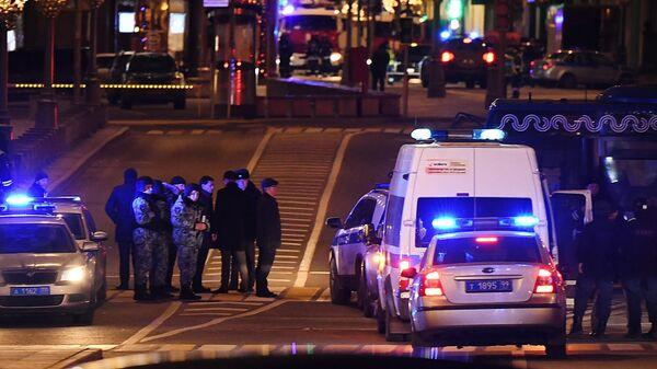 Недалеко от здания ФСБ на Лубянской площади в Москве, где произошла стрельба
