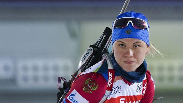 Биатлонистка Кристина Резцова