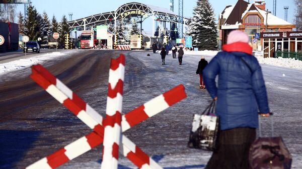 Контрольно-пропускной пункт на границе России и Украины