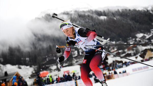 Норвежская биатлонистка Тириль Экхофф