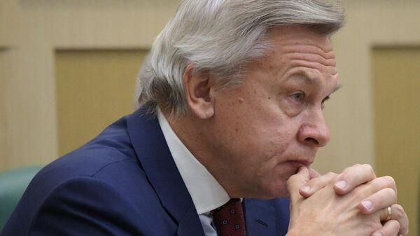 Председатель комиссии Совета Федерации РФ по информационной политике и взаимодействию со средствами массовой информации Алексей Пушков