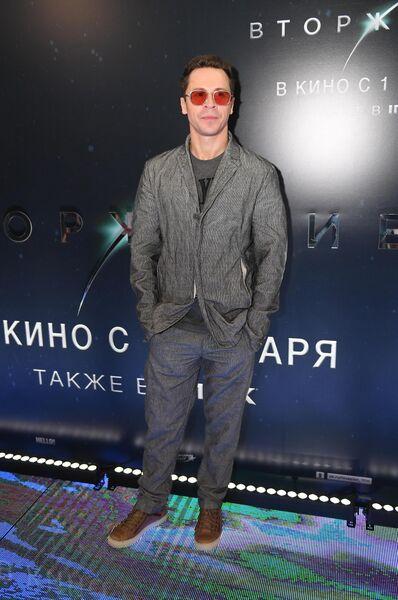 Актер Павел Деревянко на премьере фильма Вторжение