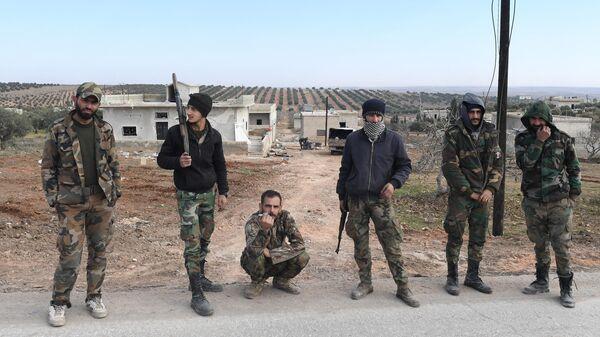 Бойцы сирийских правительственных войск