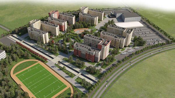 Проект общежития для спортсменов Универсиады-2023