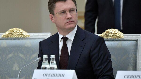 Министр энергетики РФ Александр Новак перед заседанием президиума Совета при президенте РФ по стратегическому развитию и национальным проектам