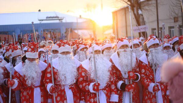 Парад Дедов Морозов в Кемерове
