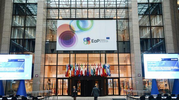 Вход в здание Европейского совета в Брюсселе