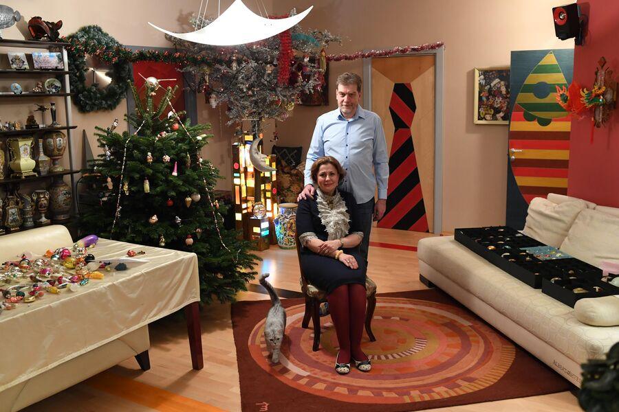Советские елочные игрушки Алла и Дмитрий собирают уже больше тридцати лет