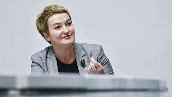 Председатель Архангельского областного Собрания депутатов Екатерина Прокопьева во время интервью в Международном информационном агентстве (МИА) Россия сегодня в Москве