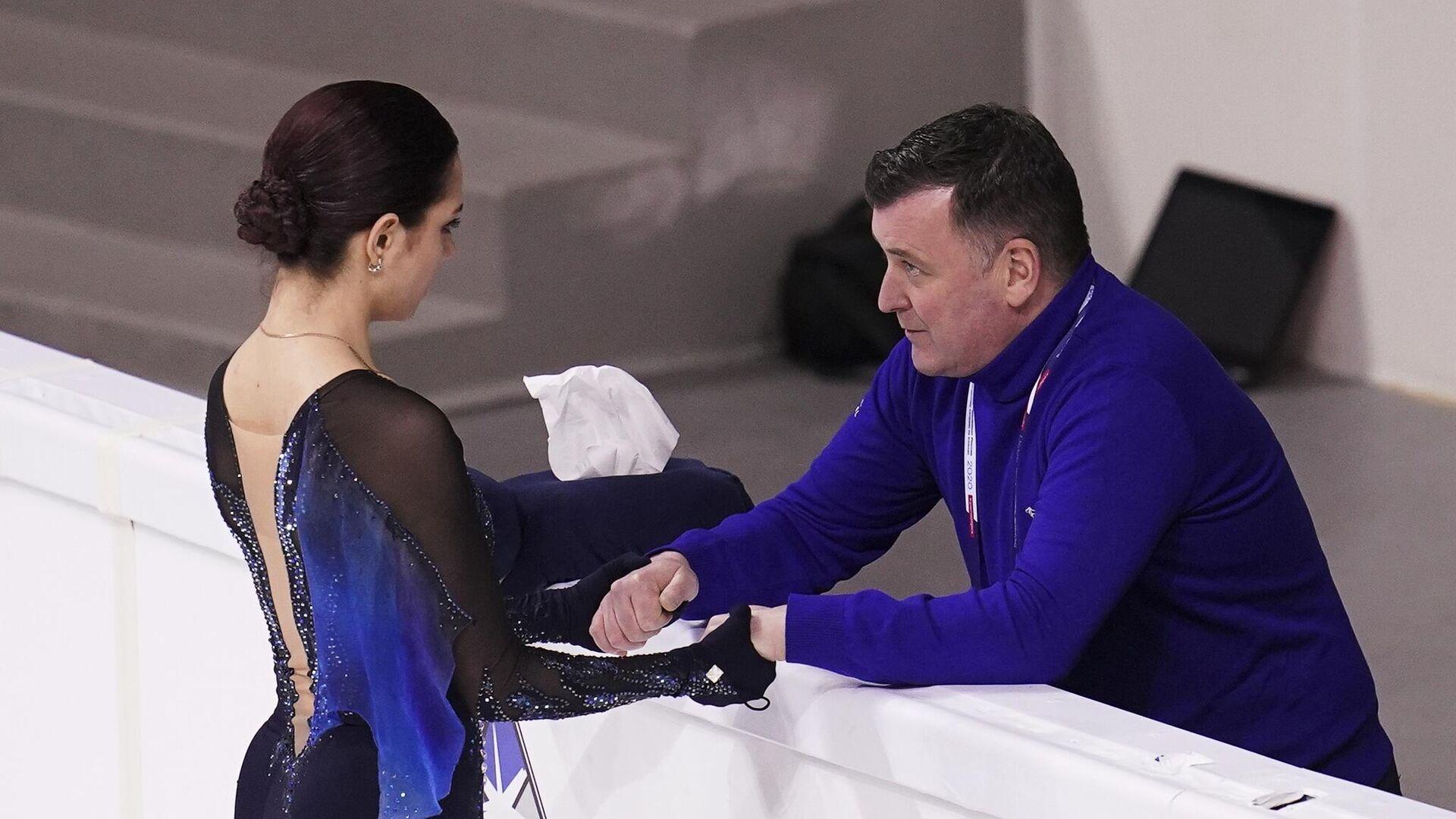 Евгения Медведева и ее тренер Брайан Орсер - РИА Новости, 1920, 16.09.2020