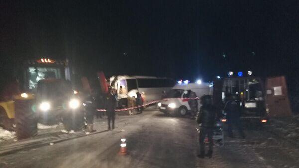 ДТП  с вахтовым автобусом в Сургутском районе Югры. 30 декабря 2019