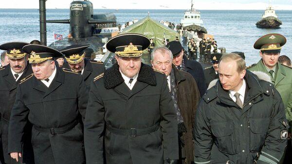 Фотография Владимира Путина в районе учений Северного флота, опубликованная на сайте 20.kremlin.ru