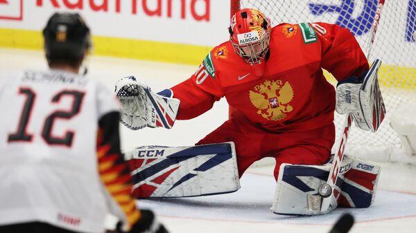 Игровой момент матча МЧМ Россия – Германия