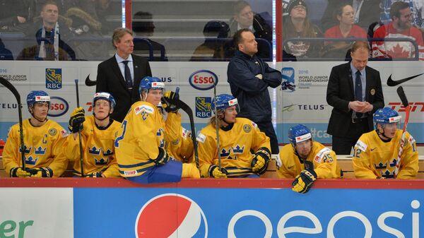 Хоккей. Молодежный чемпионат мира. Матч Швеция - США