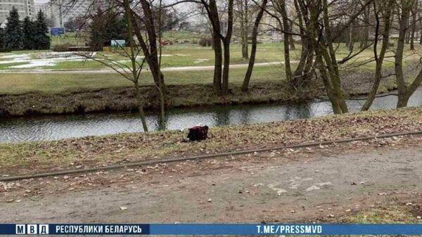 Cумка с останками конечностей человека, найденная в минской реке Свислочь