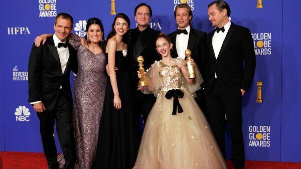 Актеры Однажды ... в Голливуде получили награду в номинации Лучшая комедия или мюзикл на 77-й ежегодной премии Золотой глобус