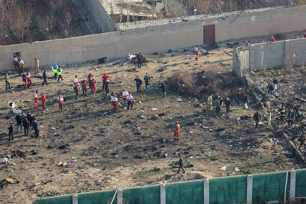 Ситуация на месте крушения украинского лайнера в Тегеране. 8 января 2020