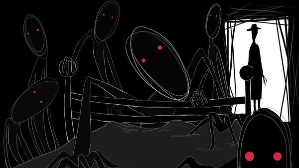 Сонный паралич. Рисунок Екатерины Берняк