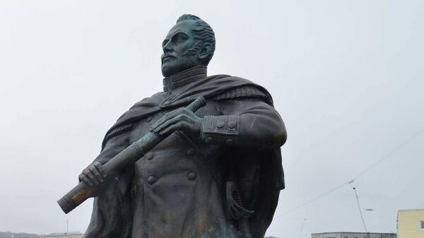 Памятник русскому мореплавателю, первооткрывателю Антарктиды Фаддею Беллинсгаузену
