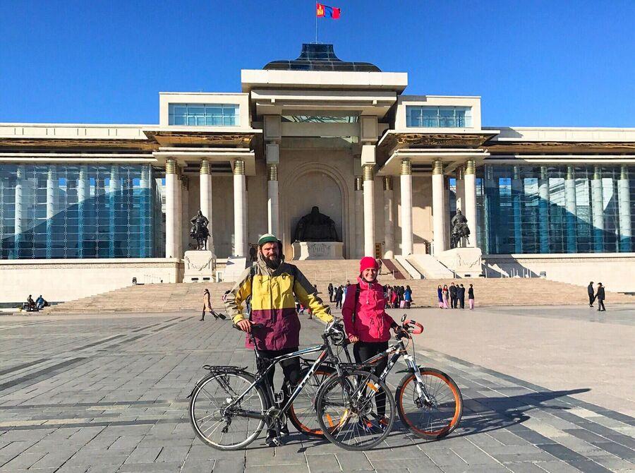 Улан-Батор, место, где мы финишировали