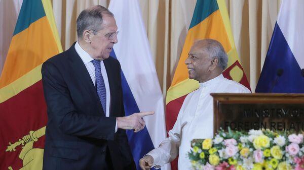Министр иностранных дел РФ Сергей Лавров и министр иностранных дел Шри-Ланки Динеш Гунавардена. 14 января 2020