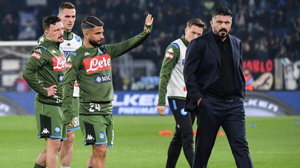 Футболисты и тренер Наполи