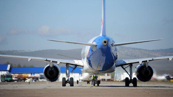 Самолёт совершил посадку в Международном аэропорту в Чите