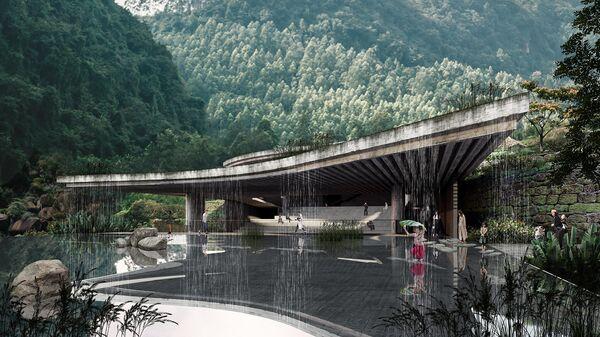 Проект здания музея Xingfu village Pan-Museum в китайской провинции Сычуань