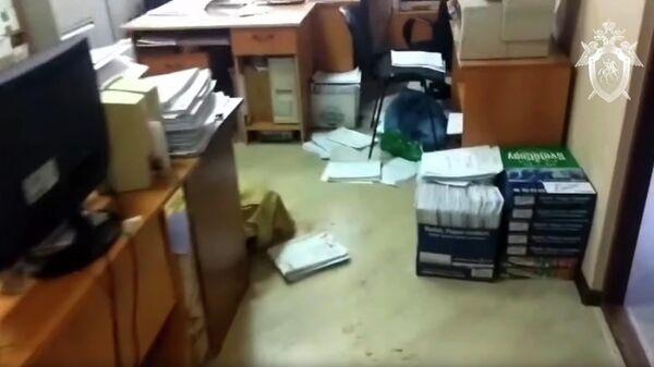 Следственные действия в судебном участке мирового судьи в Новокузнецке. Стоп-кадр видео