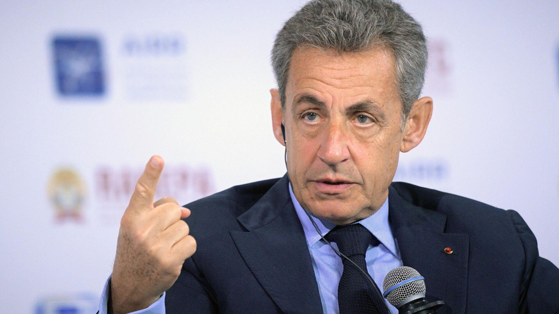 Экс-президент Франции Николя Саркози на XI Гайдаровском форуме в Москве - РИА Новости, 1920, 01.03.2021