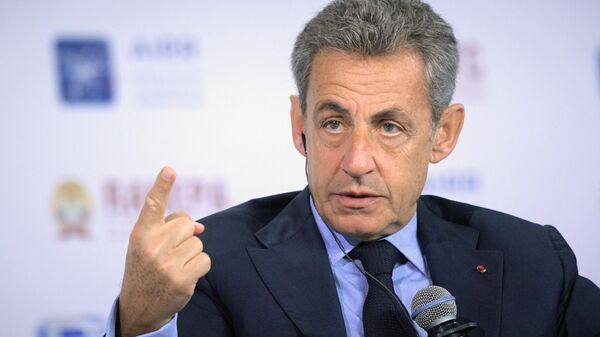 Экс-президент Франции Николя Саркози на XI Гайдаровском форуме в Москве