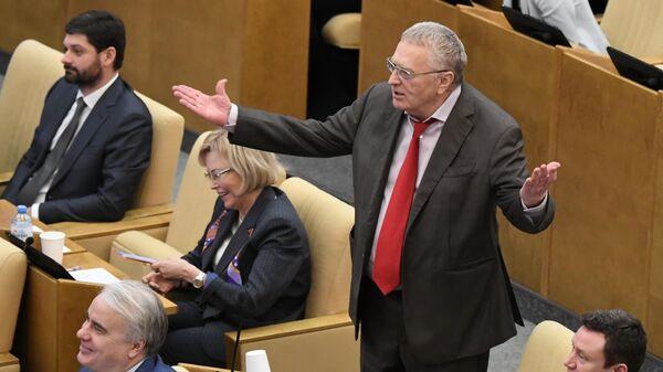 Владимир Жириновский на пленарном заседании Государственной Думы РФ