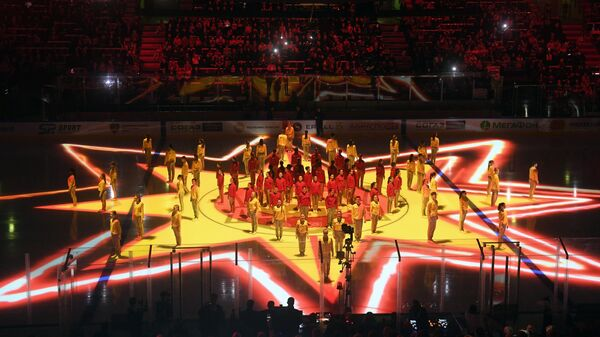 Церемония открытия мастер-шоу звезд КХЛ. Архивное фото