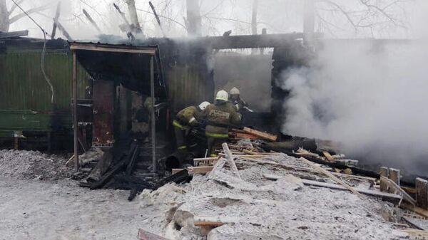 Пожар в жилом доме в Томской области
