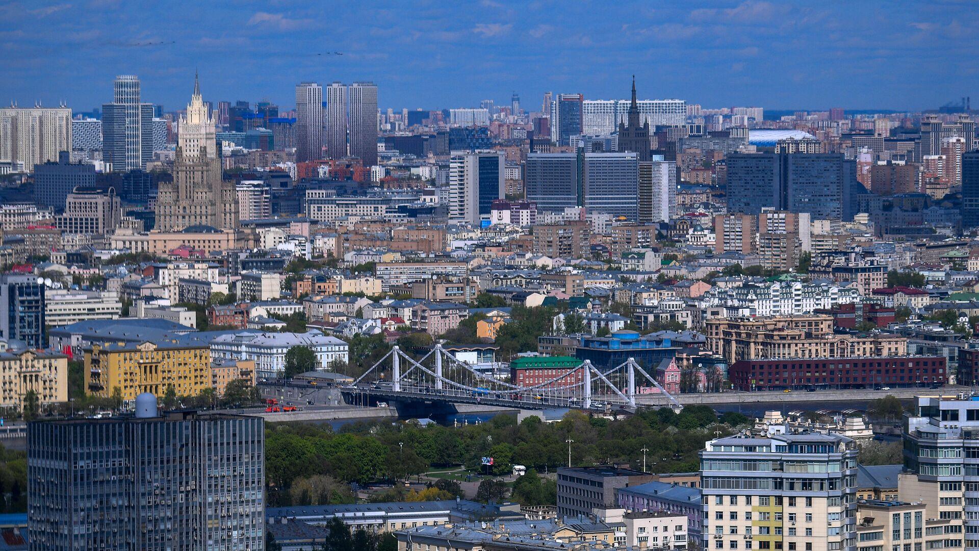 Вид на Москву из вертолета - РИА Новости, 1920, 22.09.2020