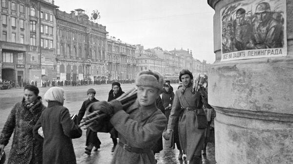 На Невском проспекте блокадного города. Ленинград, октябрь 1941 года
