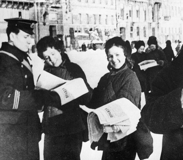 Последние известия : Блокада прорвана!, 18 января 1943 года