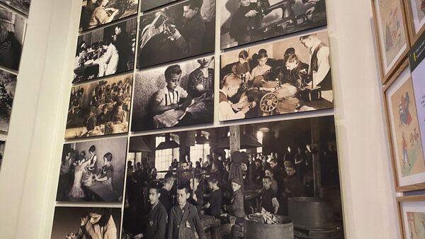 Выставочный экспонат в мемориальном комплексе истории Холокоста Яд ва-Шем