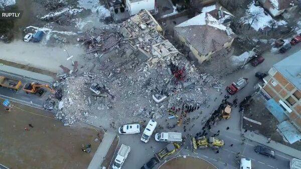 Землетрясение в Турции: кадры с дрона