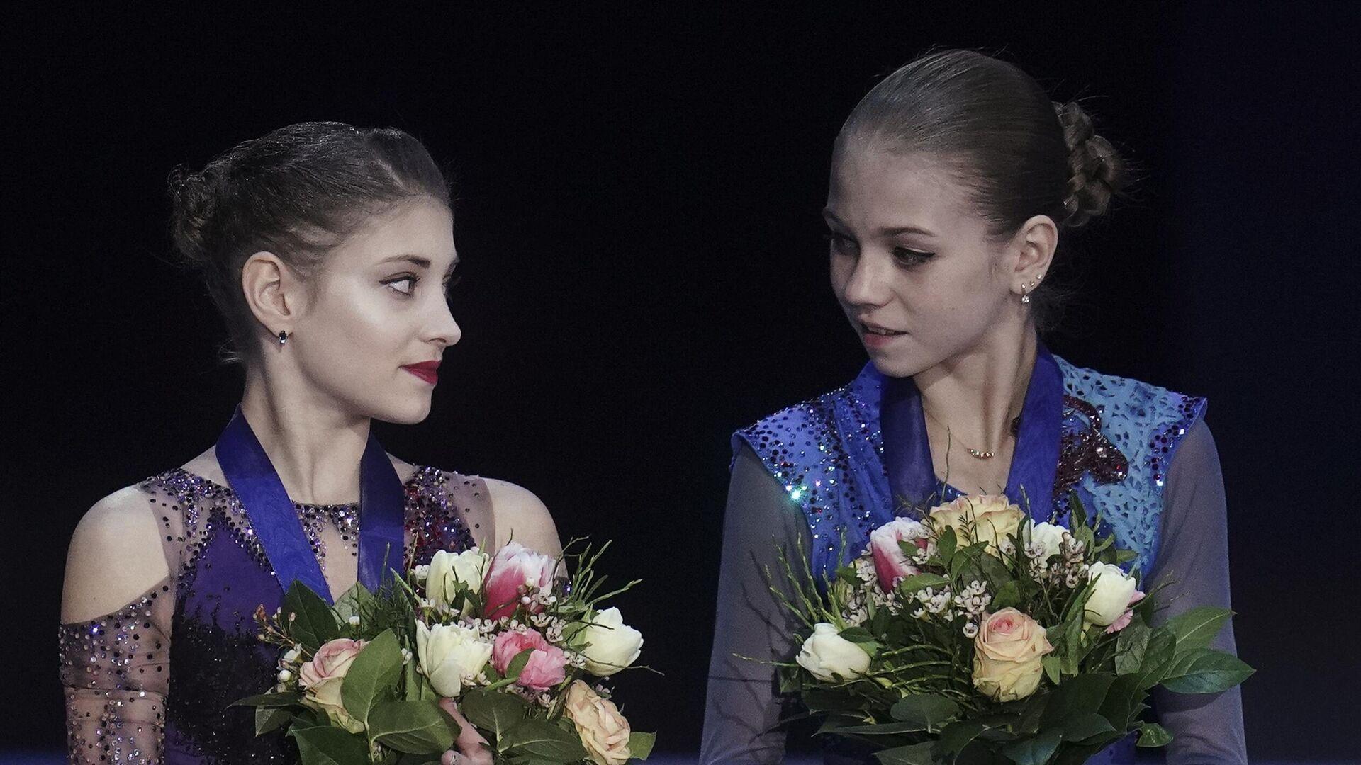 Алена Косторная (слева) и Александра Трусова - РИА Новости, 1920, 15.10.2020