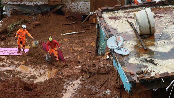 Последствия оползня в штате Минас-Жерайс, Бразилия