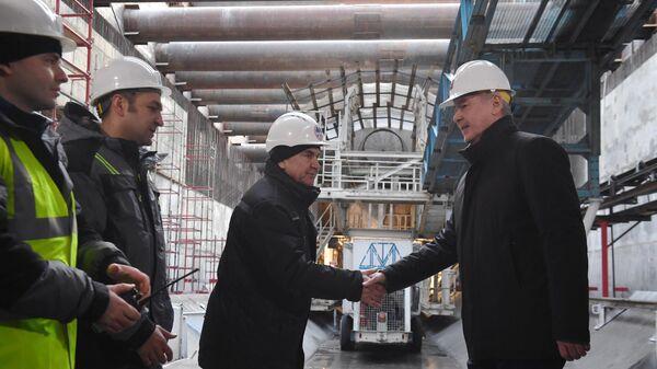 Запуск проходческого щита на станции БКЛ метро Текстильщики