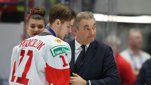 Василий Подколзин и Владислав Третьяк