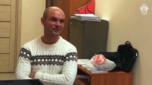 Виктор Гаврилов во время допроса в Следственном комитете. Стоп-кадр видео