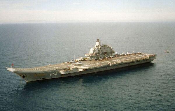 Авианесущий крейсер Адмирал Кузнецов. Архивное фото