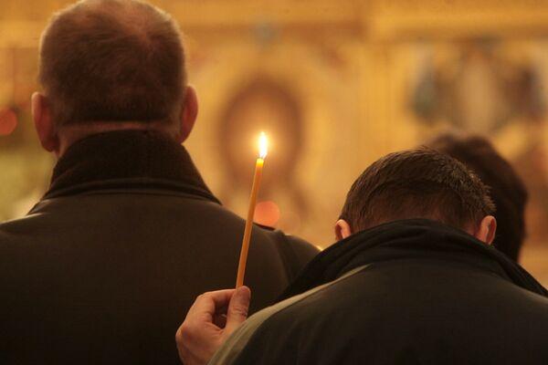 Поминальная служба по патриарху Московскому и всея Руси