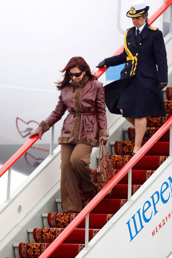 Президент Аргентины Кристина Фернандес де Киршнер прибыла в Россию с официальным визитом