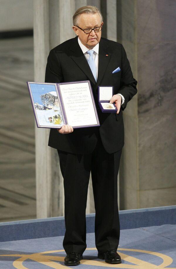 Экс-президенту Финляндии Марти Ахтисаари вручили Нобелевскую премию мира