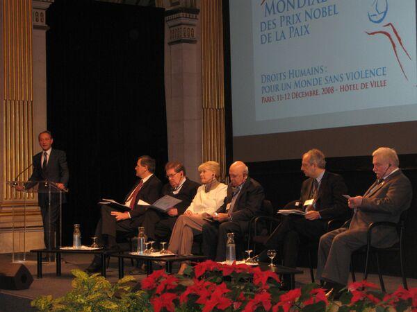 Саммит лауреатов Нобелевской премии мира в Париже